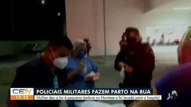 Batalhão de choque ajuda em parto de mulher no Montese, em Fortaleza - Saiba mais em g1.com.br/ce