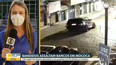 Bandidos assaltam agências bancárias em Mococa, no interior de São Paulo - Pelo menos 3 agências foram alvos dos assaltantes.