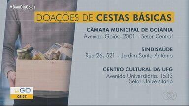 Campanha arrecada alimentos para famílias carentes de Goiânia - Veja onde acontece a distribuição de alimentos.