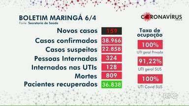 Veja dados atualizados da Covid-19 em Maringá - Números são da prefeitura.