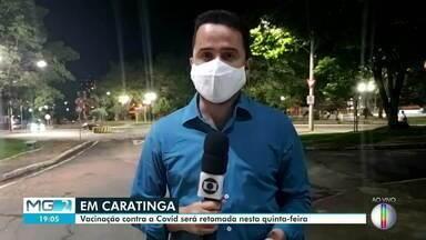 Caratinga retoma vacinação contra a Covid-19 nesta quinta-feira - Em Ipatinga, idosos acima de 66 anos serão vacinados nesta quinta-feira (8).