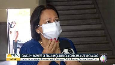 Governadora Fátima Bezerra fala sobre plano de vacinação para agentes de segurança pública - Governadora Fátima Bezerra fala sobre plano de vacinação para agentes de segurança pública