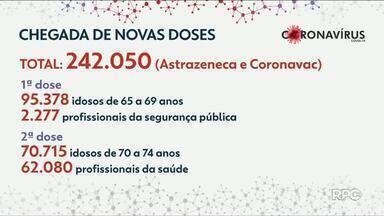 Novas doses da vacina contra Covid-19 chegam no Paraná - Doses serão distribuídas para as regionais de saúde.