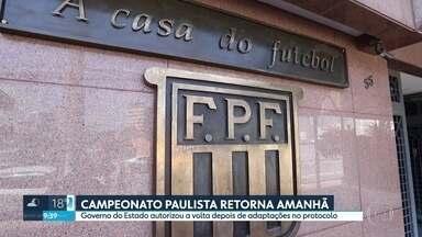Campeonato Paulista retorna neste sábado - Governo do Estado autorizou a volta depois de adaptações no protocolo