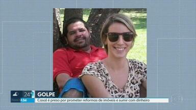 Casal preso é preso acusado de golpe do imóvel no Rio - Eles prometiam reformas em imóveis, mas não entregavam e sumiam com dinheiro.