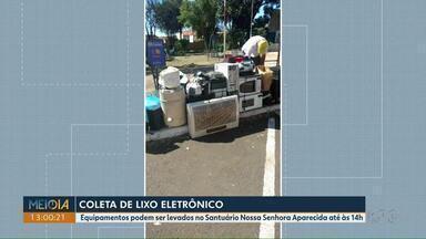 Neste sábado (10), tem coleta de lixo eletrônico na região central de Londrina - Equipamentos podem ser levados no Santuário Nossa Senhora Aparecida, até às 14h.