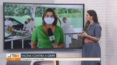 Vacinação contra a gripe iniciou nesta segunda em algumas cidades da Baixada Santista - Primeira etapa da campanha acontece junto com a imunização contra a Covid-19.
