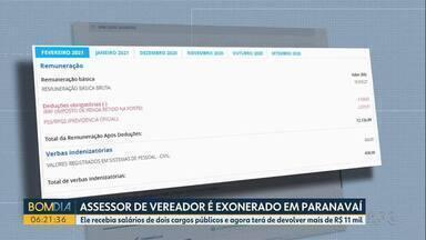Assessor que recebia salário de dois cargos em Paranavaí é exonerado - Ele recebia salários de dois cargos públicos e agora terá de devolver mais de R$ 11 mil.