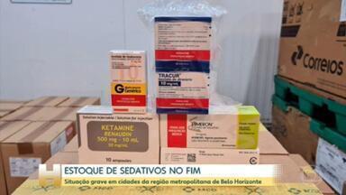 O baixo estoque de medicamentos para intubação, na região metropolitana de BH, preocupa - Em algumas cidades os sedativos podem acabar ainda nesta terça-feira.