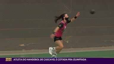 Revelação do handebol feminino, Thais vive expectativa olímpica - Atleta de Cascavel vem sendo constantemente convocada para a seleção, mas restrições da pandemia de covid-19 a impedem de participar dos treinos na Europa