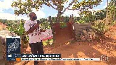 MG Móvel em Juatuba: moradores da rua Dona Flor pedem limpeza e obras de infraestrutura - É a primeira vez do MG Móvel no bairro Residencial Ilhéus.