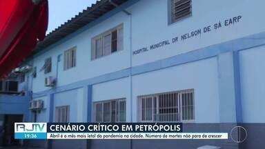 Petrópolis, RJ, já bate recordes de mortes por Covid-19 neste mês - O mês de abril, que ainda não acabou, tem sido o período mais letal da pandemia na cidade.