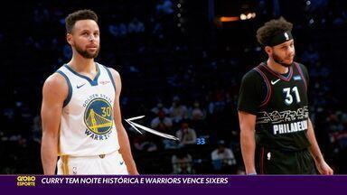Curry tem noite histórica e Warriors vence Sixers - Curry tem noite histórica e Warriors vence Sixers