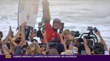 Gabriel Medina é campeão e Tati Weston-Webb leva o vice em Narrabeen, na Austrália - Gabriel Medina é campeão e Tati Weston-Webb leva o vice em Narrabeen, na Austrália