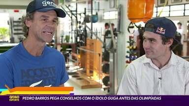 Pedro Barros pega conselho com o ídolo Guga antes das Olimpíadas - Pedro Barros pega conselho com o ídolo Guga antes das Olimpíadas