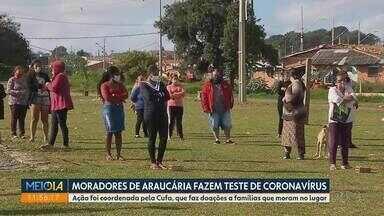 Moradores de regiões mais pobres de Araucária são testados pra Covid - Ação foi coordenada pela Cufa, que faz doações a famílias que moram no lugar