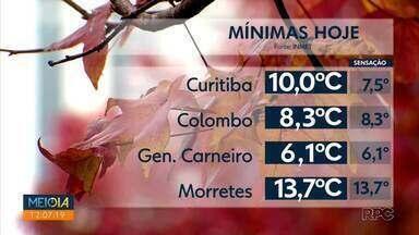 Sexta-feira (23) amanhece com a menor temperatura do ano em Curitiba - A chuva fica restrita ao litoral e o alerta de mar agitado continua.