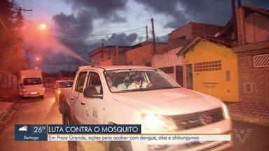 Praia Grande reforça combate para acabar com a dengue, zika e chikungunya - Pulverizador moderno está ajudando no trabalho de nebulização nos bairros da cidade.