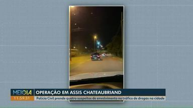 Polícia faz operação contra o tráfico de drogas em Assis Chateaubriand - Quatro suspeitos foram presos.