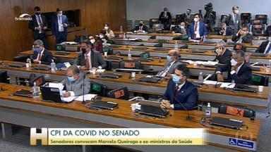 CPI da Covid convoca Queiroga, ex-ministros da Saúde de Bolsonaro e chefe da Anvisa - Pelo calendário, Mandetta e Teich serão ouvidos na terça (4); Pazuello, na quarta (5); e Queiroga e Barra Torres, na quinta (6). Na sessão, houve bate-boca entre relator e senador governista.