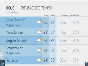 Veja as variações das temperaturas no Maranhão - Confira a previsão do tempo na manhã desta sexta-feira (30) em São Luís e também no interior do estado.