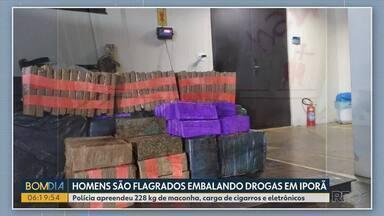 Polícia apreende 620 kg de maconha em picape alugada, em Tapejara - Motorista tentou fugir após abordagem, mas bateu contra barranco. Apreensão foi feita na manhã de quinta-feira (29) pela Polícia Rodoviária Estadual.