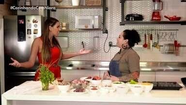 Chef Van Régia no quadro 'Cozinhando com Niara' - Cozinheira mostrar como preparar um delicioso mugunzá salgado acompanhado com rabada