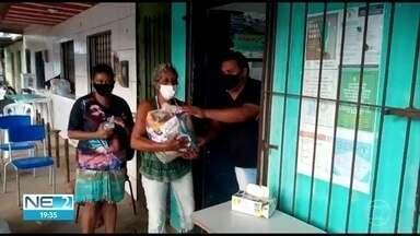 Associação Comunitária entrega 50 cestas básicas para moradores de Zumbi do Pacheco - Associação existe há 7 anos e agora faz campanha para ajudar moradores que estão sem renda.