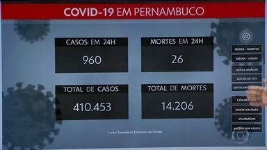 Secretaria de Saúde atualiza números da pandemia em Pernambuco - Foram mais 960 casos de covid-19 e 26 mortes confirmadas nas últimas 24h.
