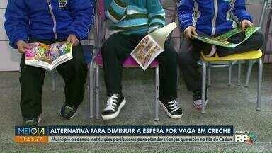 Instituições particulares são credenciadas para atender crianças na fila do Cadun - Foi a alternativa encontrada pelo município para diminuir a espera por vaga em creche.