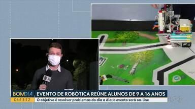 Evento virtual de robótica reúne alunos de 9 a 16 anos no Paraná - O objetivo é resolver problemas do dia a dia. O evento será on-line.