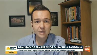 Ânderson Silva fala sobre demissão de temporários durante a pandemia na Alesc - Ânderson Silva fala sobre demissão de temporários durante a pandemia na Alesc