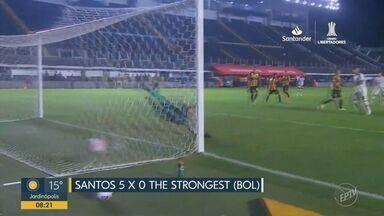 Santos goleia The Stongest na Vila Belmiro e luta pela classificação na Libertadores - Peixe fez bonito com vitória por 5 a 0 sobre o adversário.