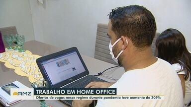 Durante a pandemia, crescem ofertas de emprego em regime home office - Pesquisa revela aumento de 309%.