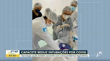 Capacete ajuda a reduzir casos de intubação por Covid-19 - Saiba mais em: g1.com.br/ce