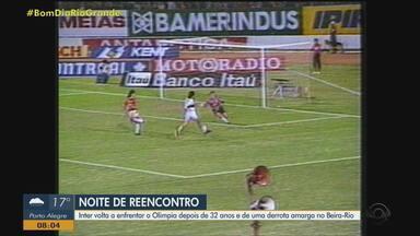 Inter volta a enfrentar o Olimpia depois de 32 anos e de uma derrota amarga no Beira-Rio - Assista ao vídeo.