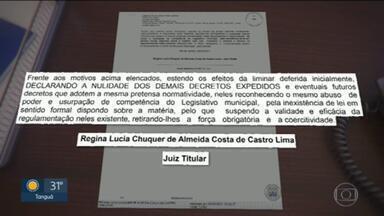 Juíza Regina Lucia Chuquer de Almeida suspende medidas restritivas do município do Rio - A prefeitura disse que foi notificada ainda na noite de ontem e que vai recorrer.