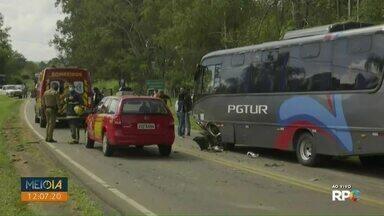 Acidente com micro-ônibus na PR-151 causa nova morte - Batida aconteceu em 26 de abril. Vítima estava internada.