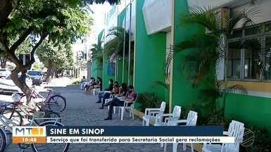 ATENDIMENTO NO SINE - Moradores reclamam de lentidão no atendimento