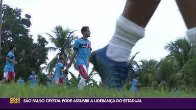 São Paulo Crystal pode assumir liderança e se consolidar na briga pelo G-2 do Paraibano - Time de Cruz do Espírito Santo vai com força máxima para duelo contra o Botafogo-PB, nesta quarta-feira