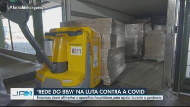 Empresas doam alimentos e aparelhos hospitalares para instituições - Mobilização tem o objetivo de ajudar hospitais na pandemia.