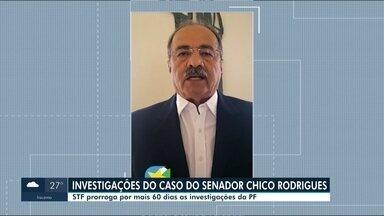 STF prorroga por 60 dias investigações do caso Chico Rodrigues - O senador é investigado por envolvimento em um esquema de desvios de recursos que seriam destinados ao combate da pandemia em Roraima.