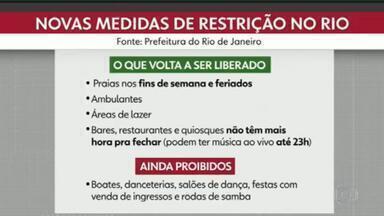 Prefeitura do Rio libera praias em novo decreto - A prefeitura do Rio divulgou, na manha desta sexta-feira (7) no Diário Oficial, algumas mudanças nas medidas de restrição para combater a Covid-19. As praias estão liberadas.