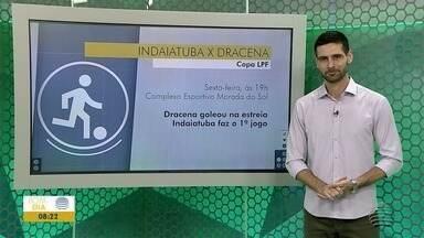 Futsal de Dracena enfrenta o time de Indaiatuba - Jogo será nesta sexta-feira (7), às 19h.