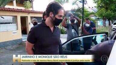 Caso Henry: Monique e Dr. Jairinho se tornam réus - A justiça do Rio também decretou a prisão preventiva dos dois.