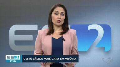 Cesta básica de Vitória subiu 2,36% em abril - Veja a seguir.