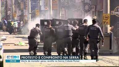 Protesto: Morte de morador gerou revolta no bairro Cidade Pomar, na Serra, ES - Veja a seguir.