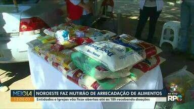 Mutirão da campanha 'Juntos Contra a Fome' acontece hoje(8) em todo Paraná - Igrejas e entidades receberão doações durante todo o dia.