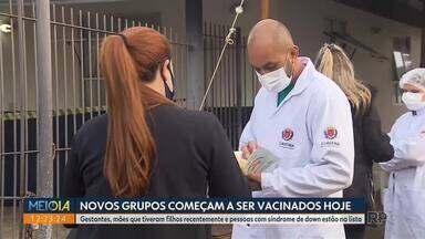 Novos grupos começam a ser vacinados hoje (10) em Curitiba - Gestantes, mães que tiveram filhos recentemente e pessoas com síndrome de down estão na lista.