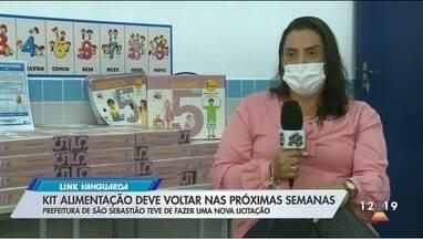 São Sebastião deve retomar distribuição de kit alimentação - Prefeitura de São Sebastião teve de fazer uma nova licitação